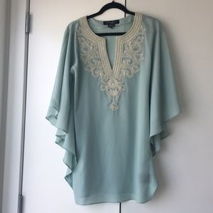 Guess Marciano embroidered butterfly sleeve dress
